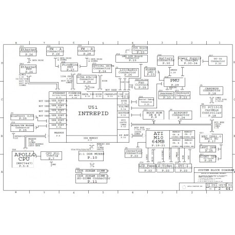 Apple G4 PowerBook A1095 Logic Board